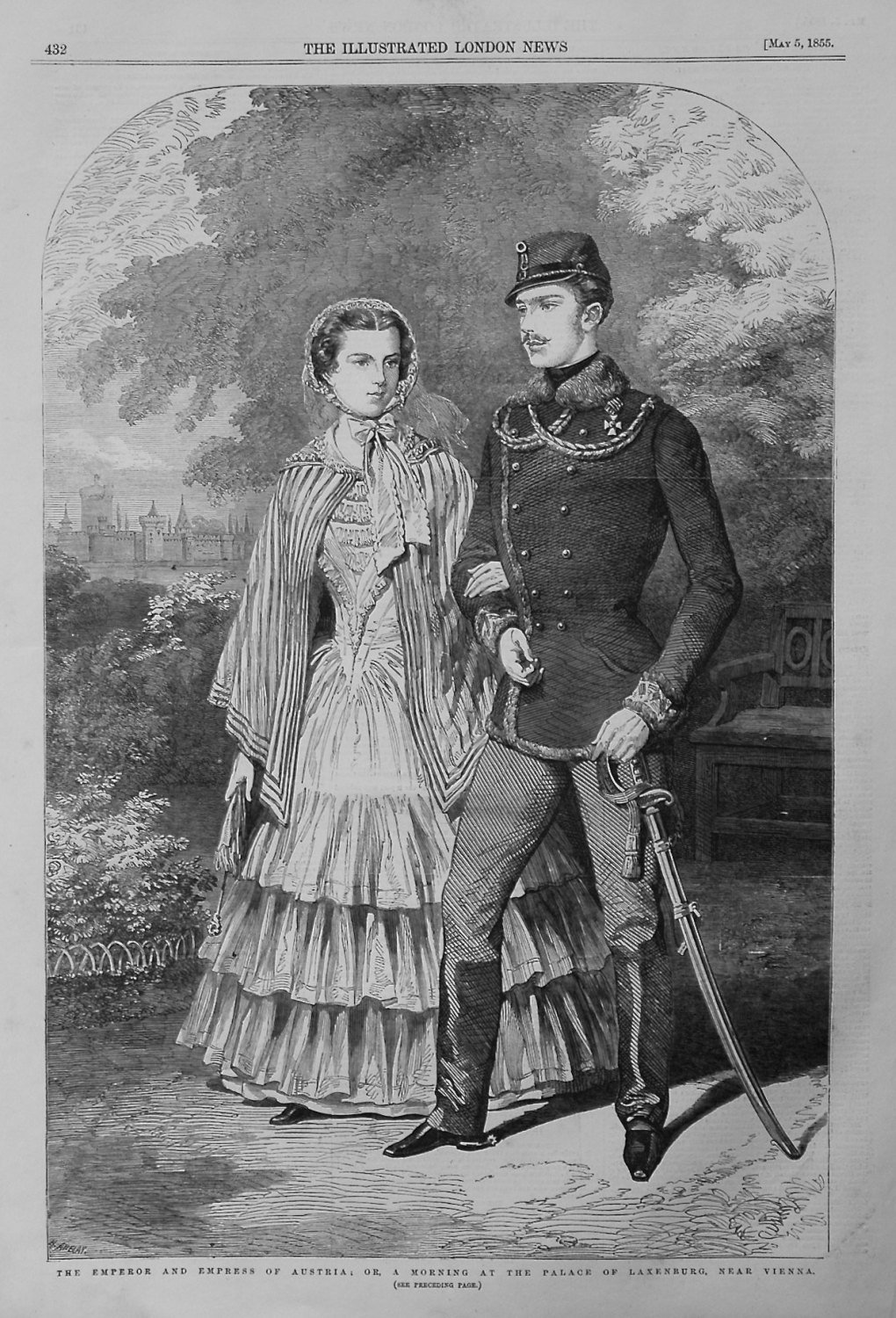The Emperor and Empress of Austria ; or, A Morning at the Palace of Laxenbu