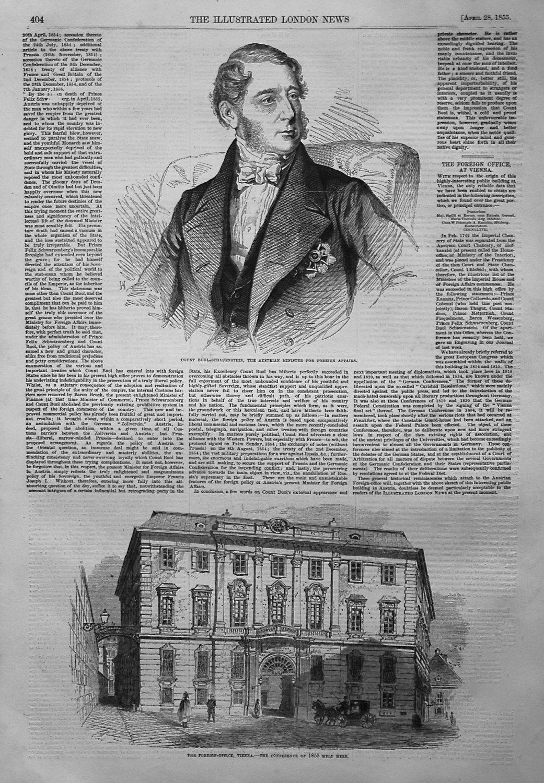 Count Buol-Schauenstein. 1855