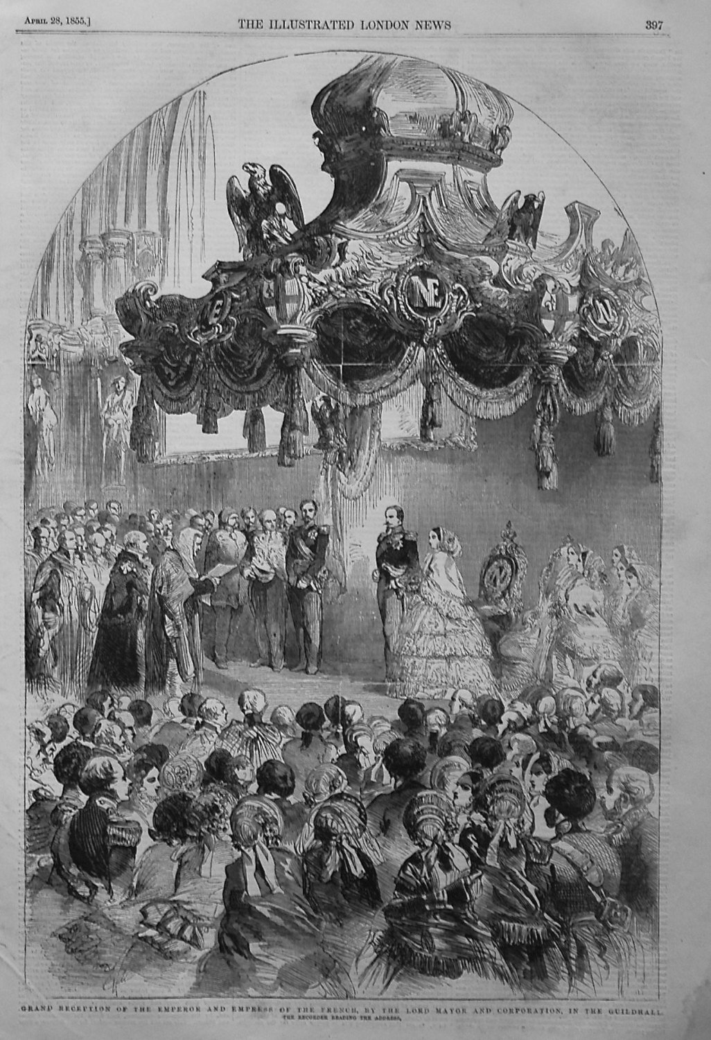 Grand Reception of the Emperor and Empress of the French, by the Lord Mayor