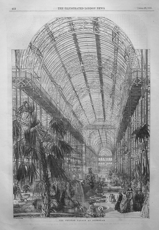 The Crystal Palace at Sydenham. 1855