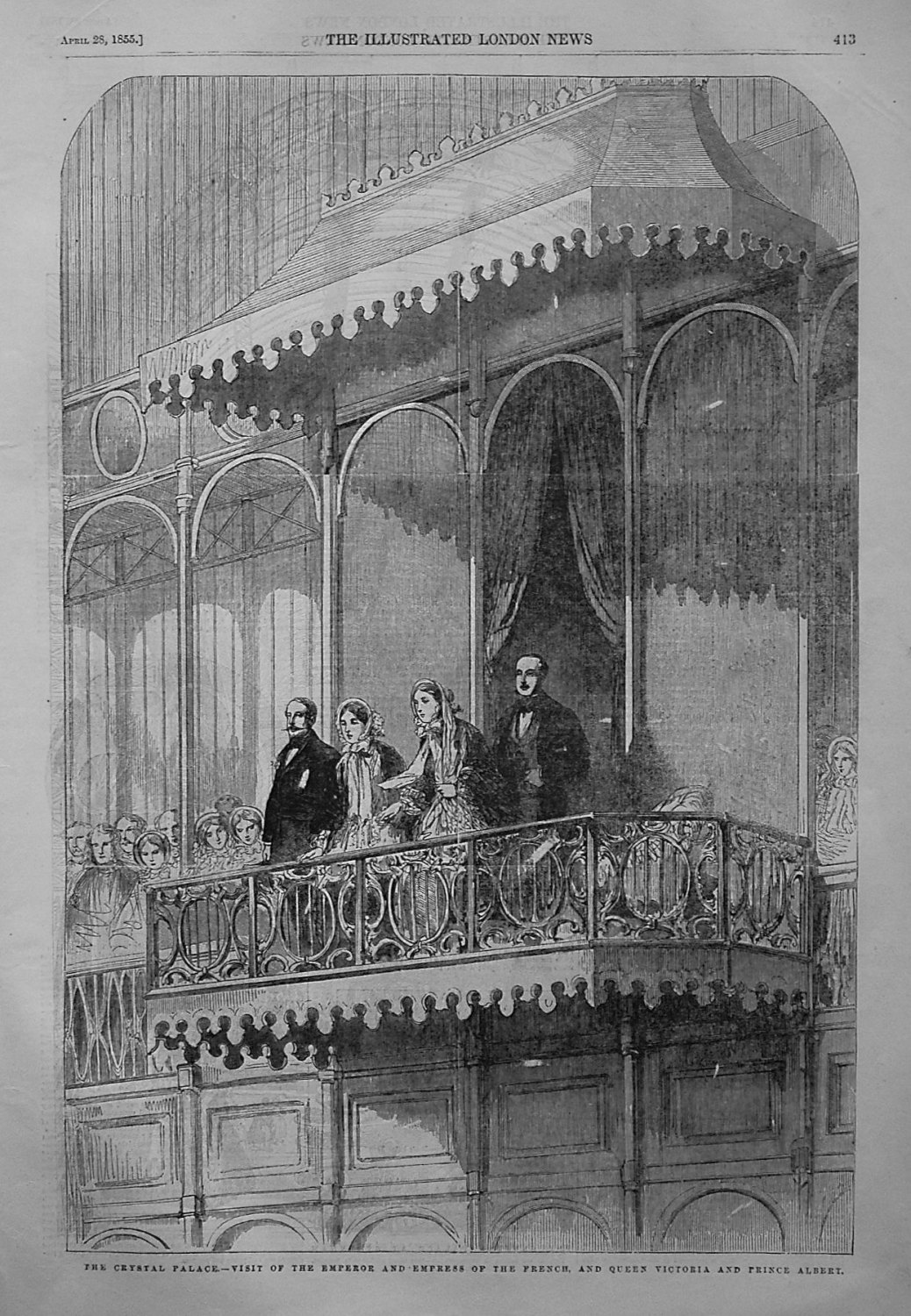 The Crystal Palace.- Visit of the Emperor and Empress of the French, and Qu