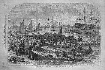 "Women Leaving ""The Hard,"" Portsea, for the Baltic Fleet. 1855"
