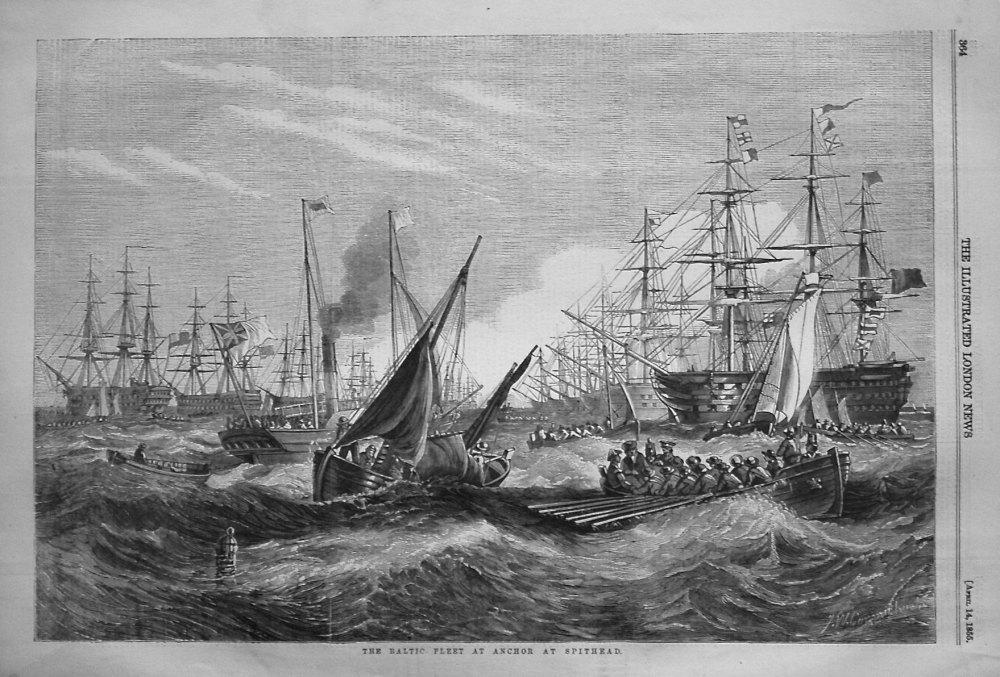 The Baltic Fleet at Anchor at Spithead. 1855