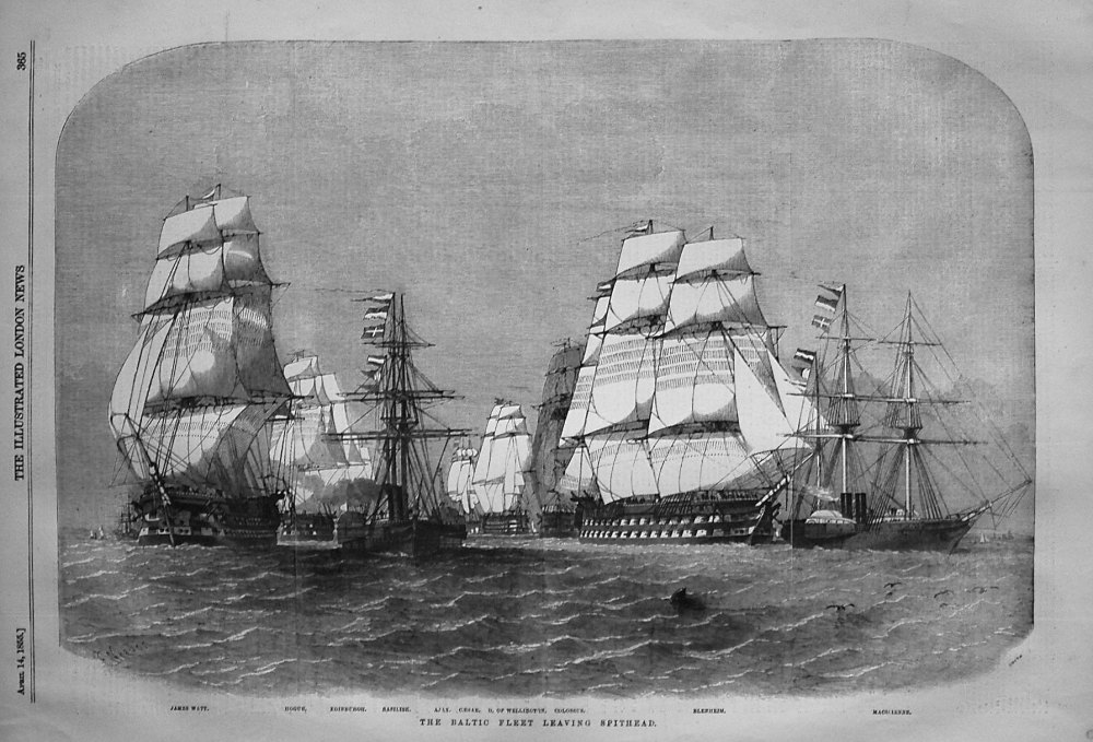 The Baltic Fleet Leaving Spithead. 1855