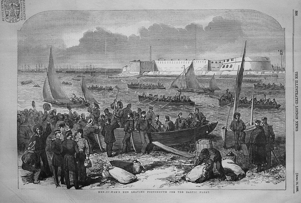 Men-of-War's Men Leaving Portsmouth for the Baltic Fleet. 1855