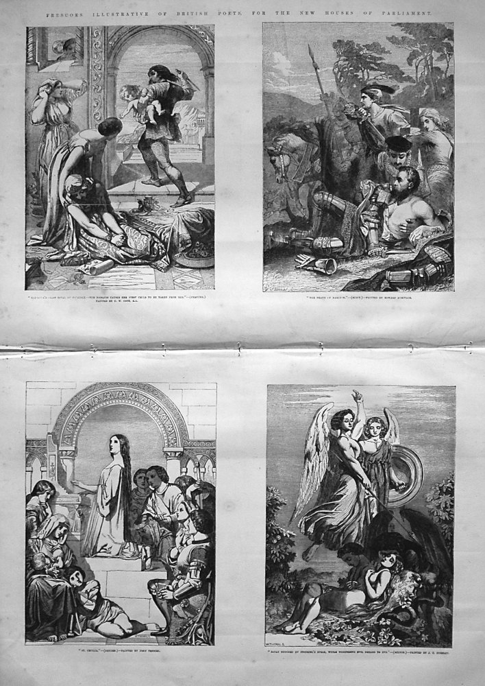 Frescoes Illustrative of English Poets, for the New Houses of Parliament. 1855