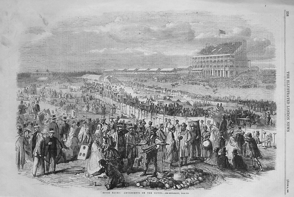 Epsom Races : Amusements on the Downs. 1861