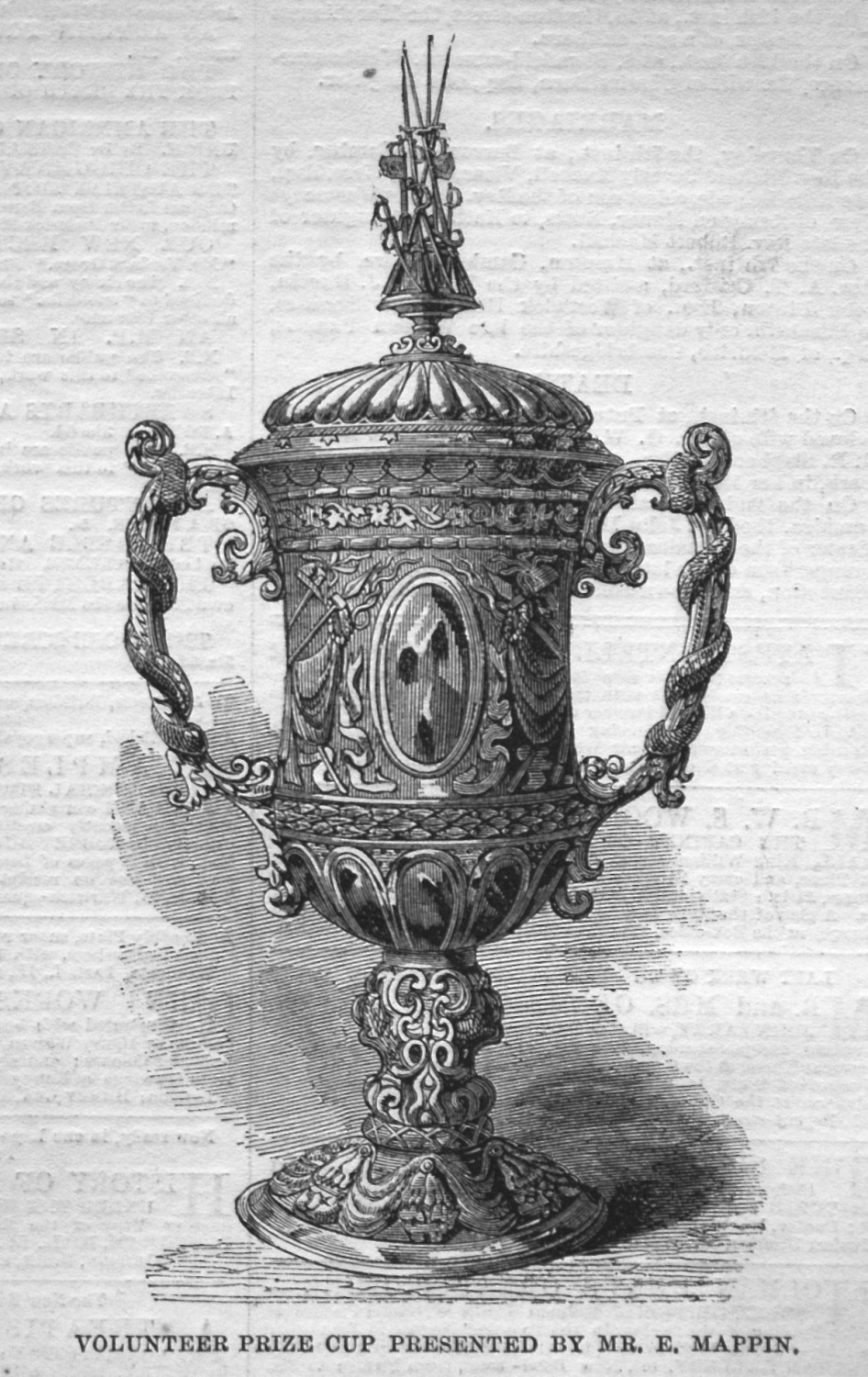 Volunteer Prize Cup Presented by Mr. E. Mappin. 1855