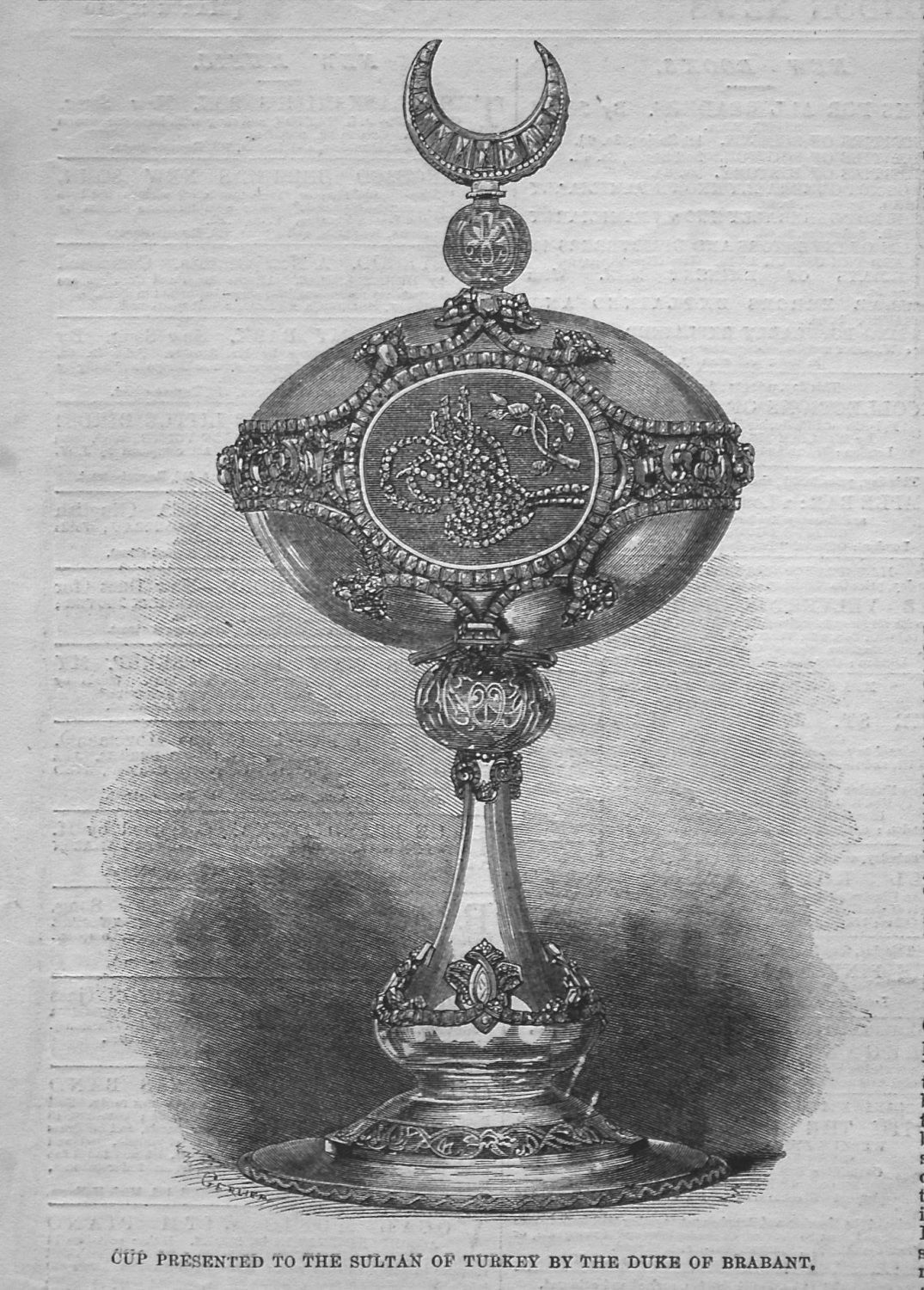 Cup Presented to the Sultan of Turkey by the Duke of Brabant. 1861