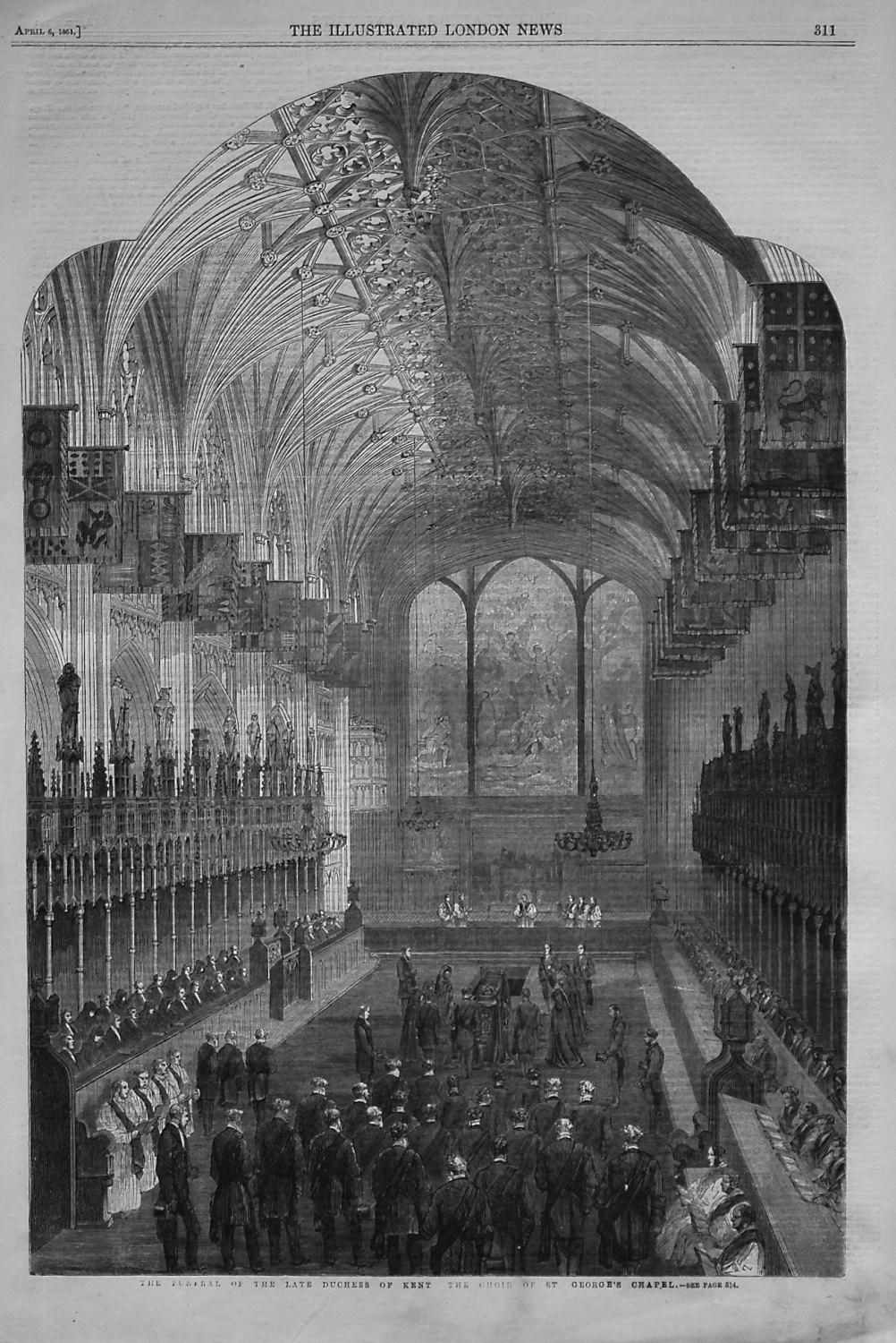 The Funeral of the Late Duchess of Kent.- The Choir of St. George's Chapel.
