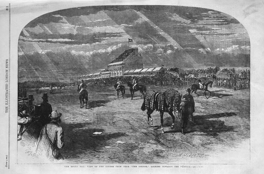 The Derby Day : View of the Course From Near