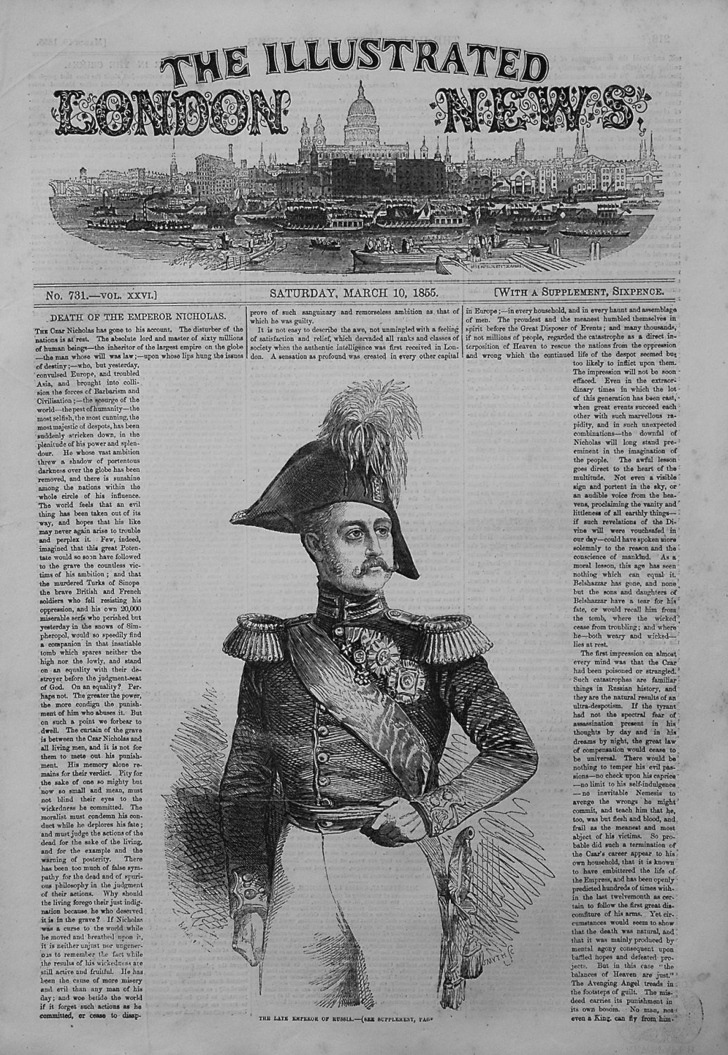 Illustrated London News March 10th 1855
