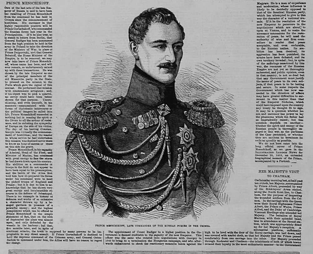 Prince Menschikoff. 1855