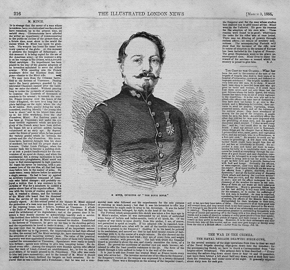 M.Minie, Inventor of