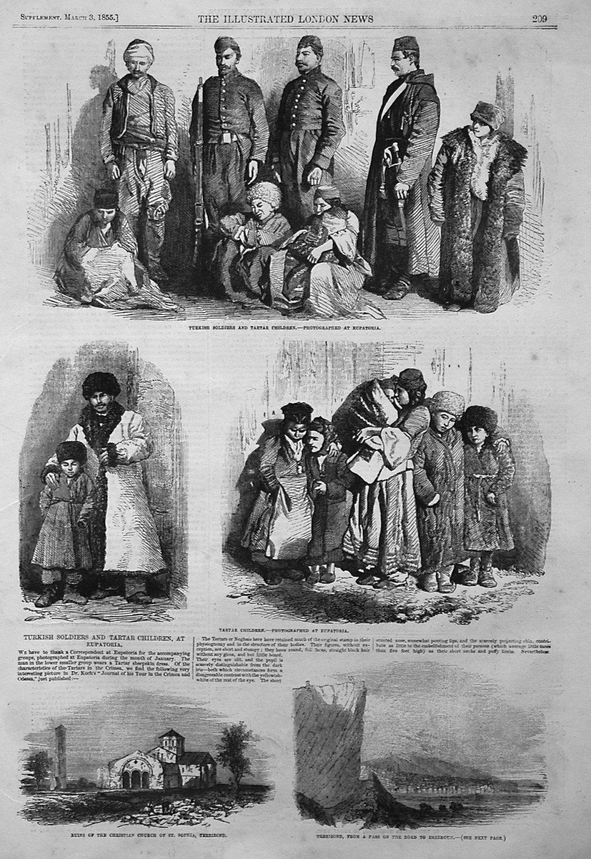 Turkish Soldiers and Tartar Children, at Eupatoria. 1855
