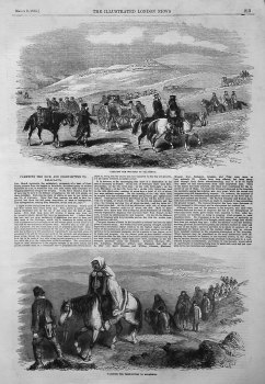 Carrying the Sick and Frost-Bitten to Balaclava. 1855