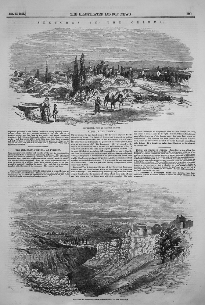 Sketches in the Crimea. 1855