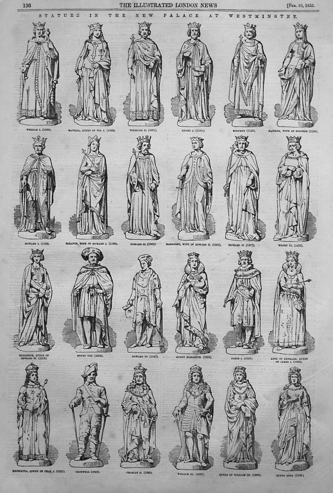 Statues in the New Palace at Westminster. 1855