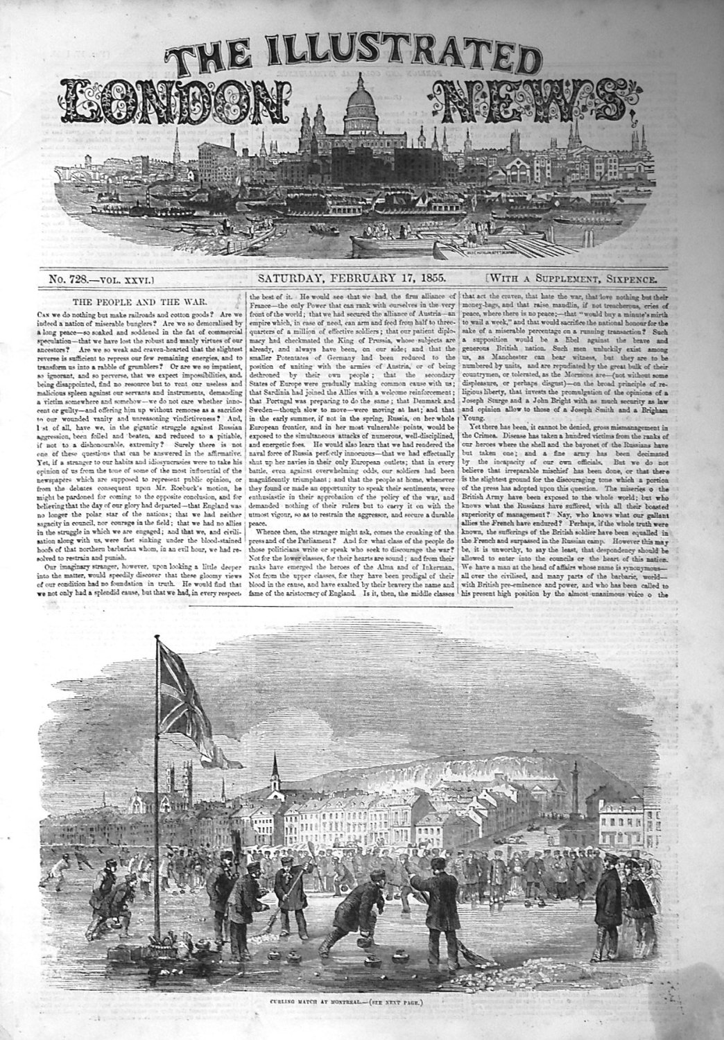 Illustrated London News February 17th 1855.