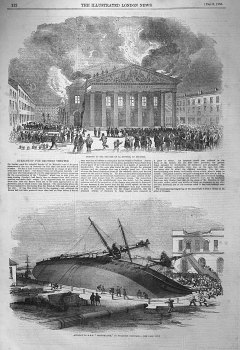 "Accident to H.M.S. ""Perseverance,"" in Woolwich Dockyard. 1855"