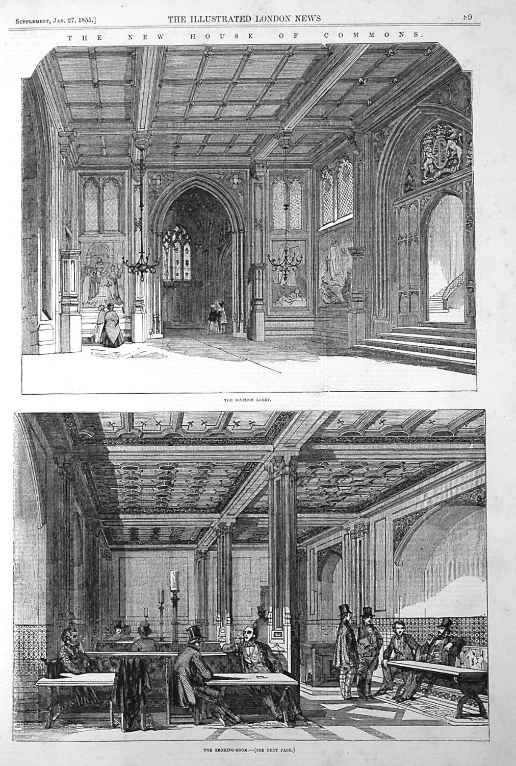 The New Houses of Commons. 1855