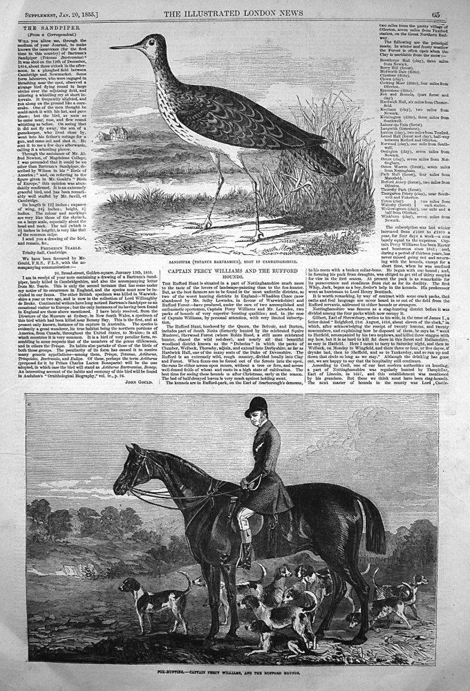 Fox-Hunting. - Captain Percy Williams, and the Ruffed Hounds. 1855