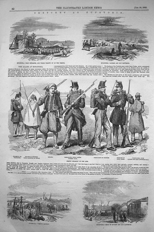 Sketches At Eupatoria. 1855