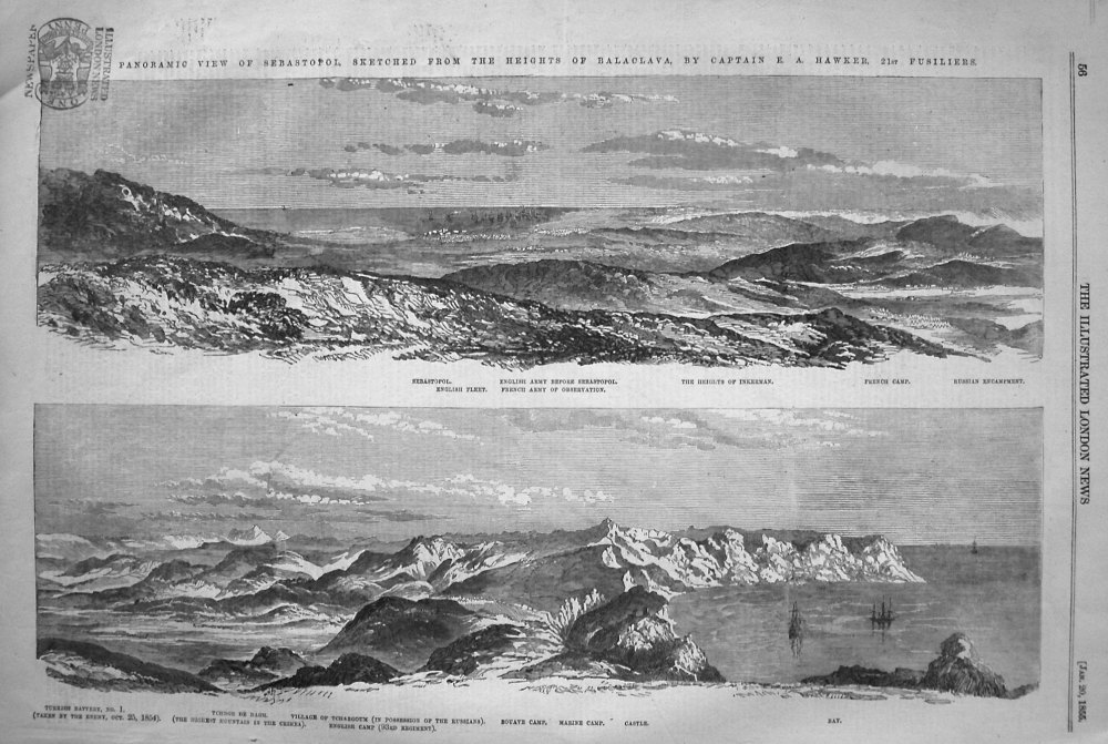 Panoramic View of Sebastopol, Sketched from the Heights of Balaclava, by Ca