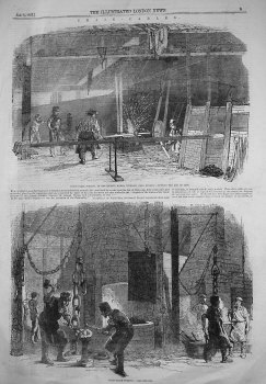 Chain-Cable Forging, at the Phoenix Works, Tividale, Near Dudley. 1855