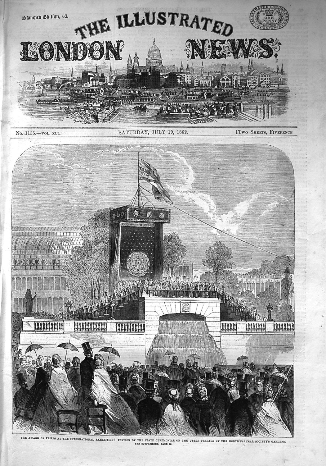 Illustrated London News July 19th 1862.