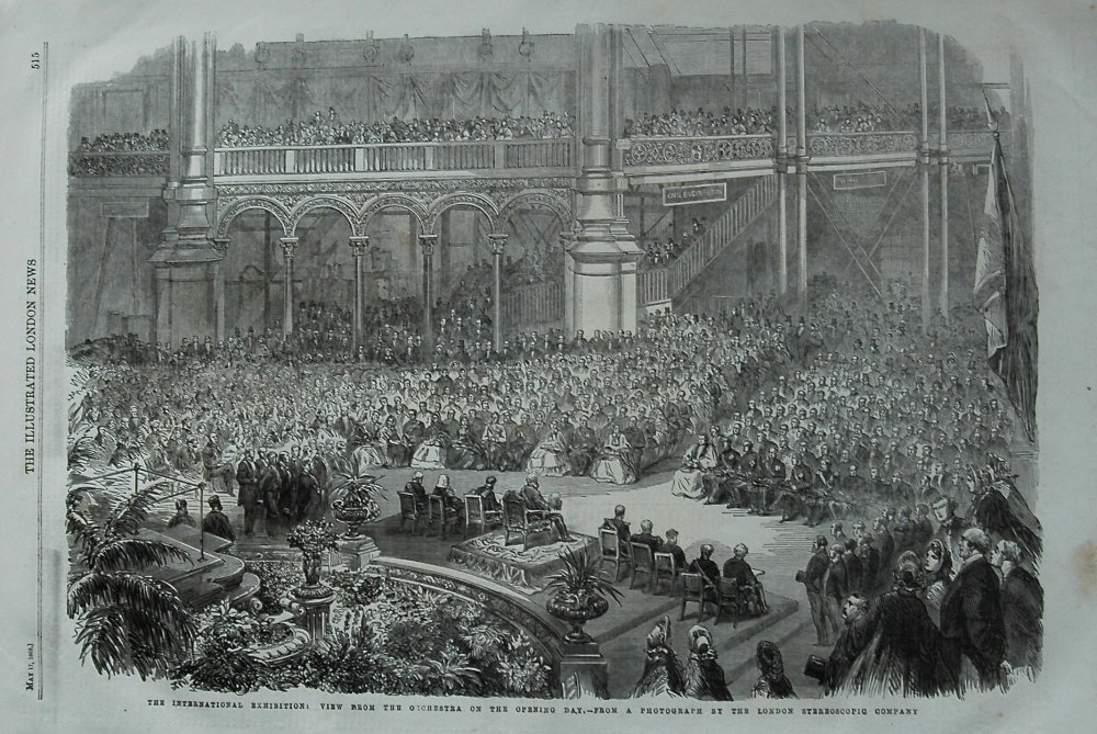 The International Exhibition : View from the Orchestra on the opening day.