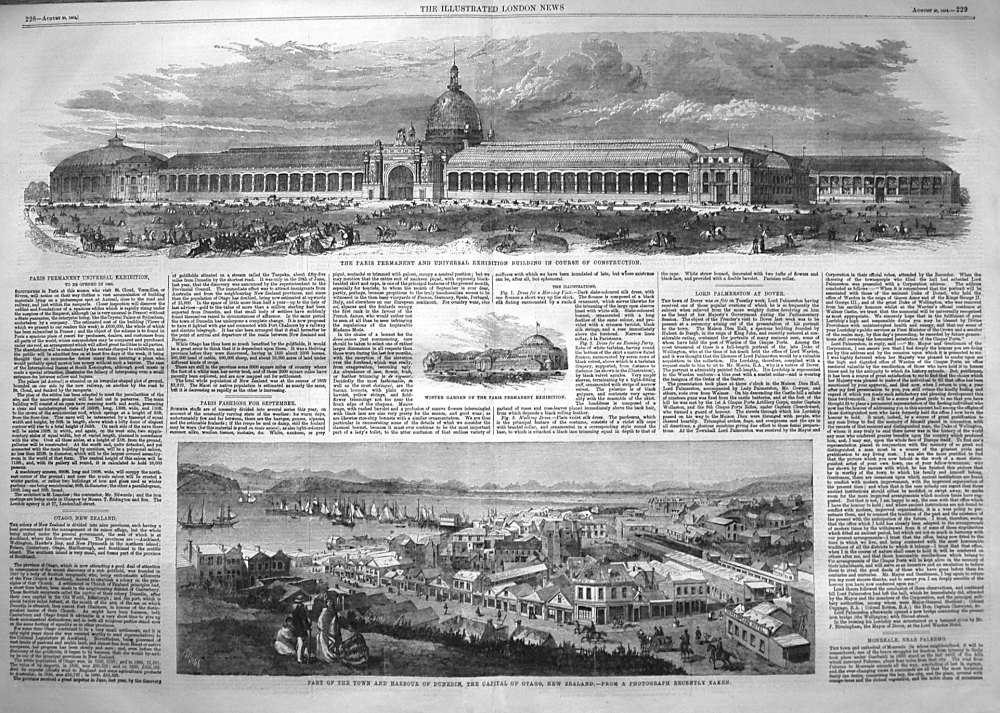 Paris Permanent Universal Exhibition, to be opened in 1863.