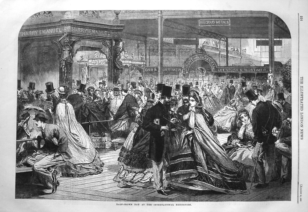 Half-Crown Day at the International Exhibition. 1862