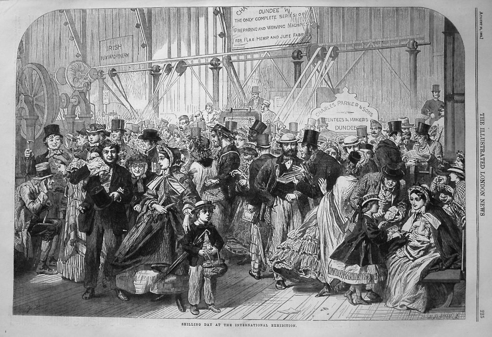 Shilling Day at the International Exhibition. 1862