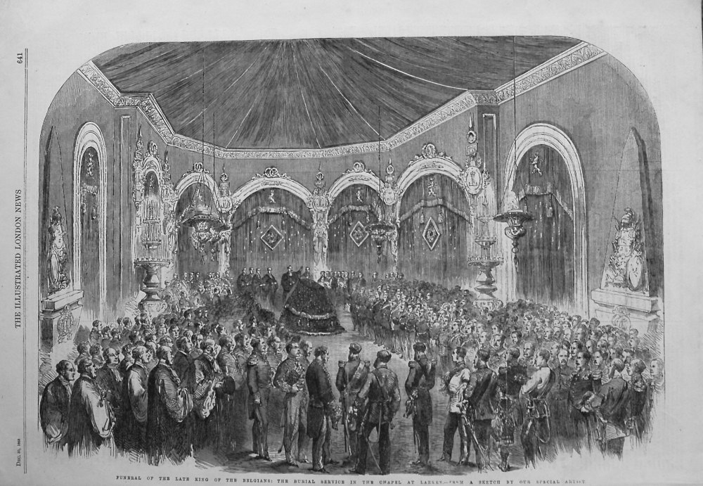Funeral of the Late King of the Belgians : The Burial Service in the Chapel