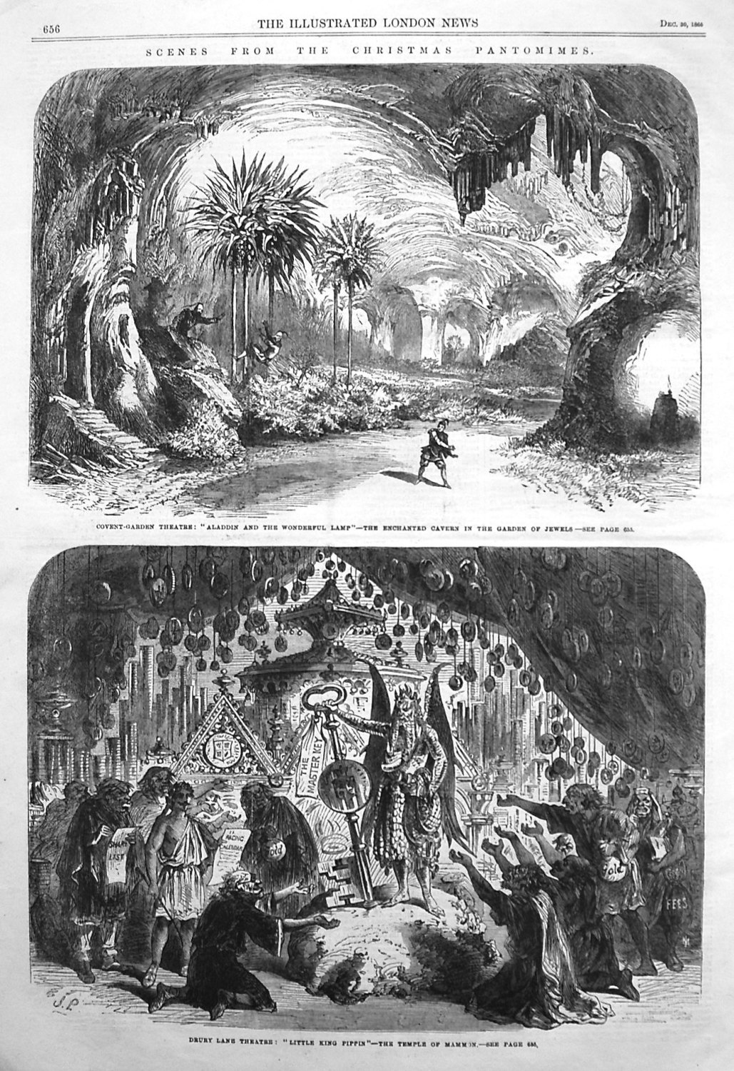 Scenes from the Christmas Pantomimes. 1865
