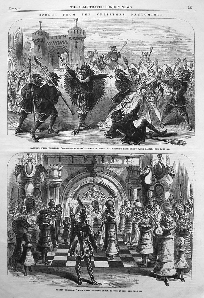 Scenes from Christmas Pantomimes. 1865
