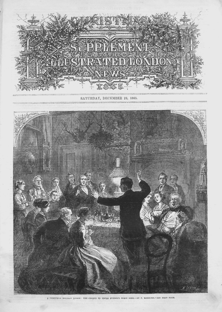 Christmas Supplement to the Illustrated London News December 23rd 1865