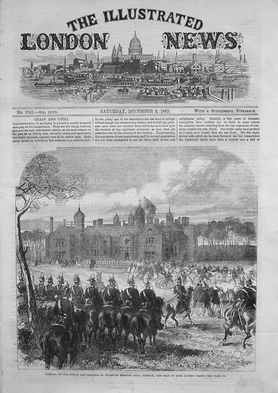 Illustrated London News December 2nd 1865.