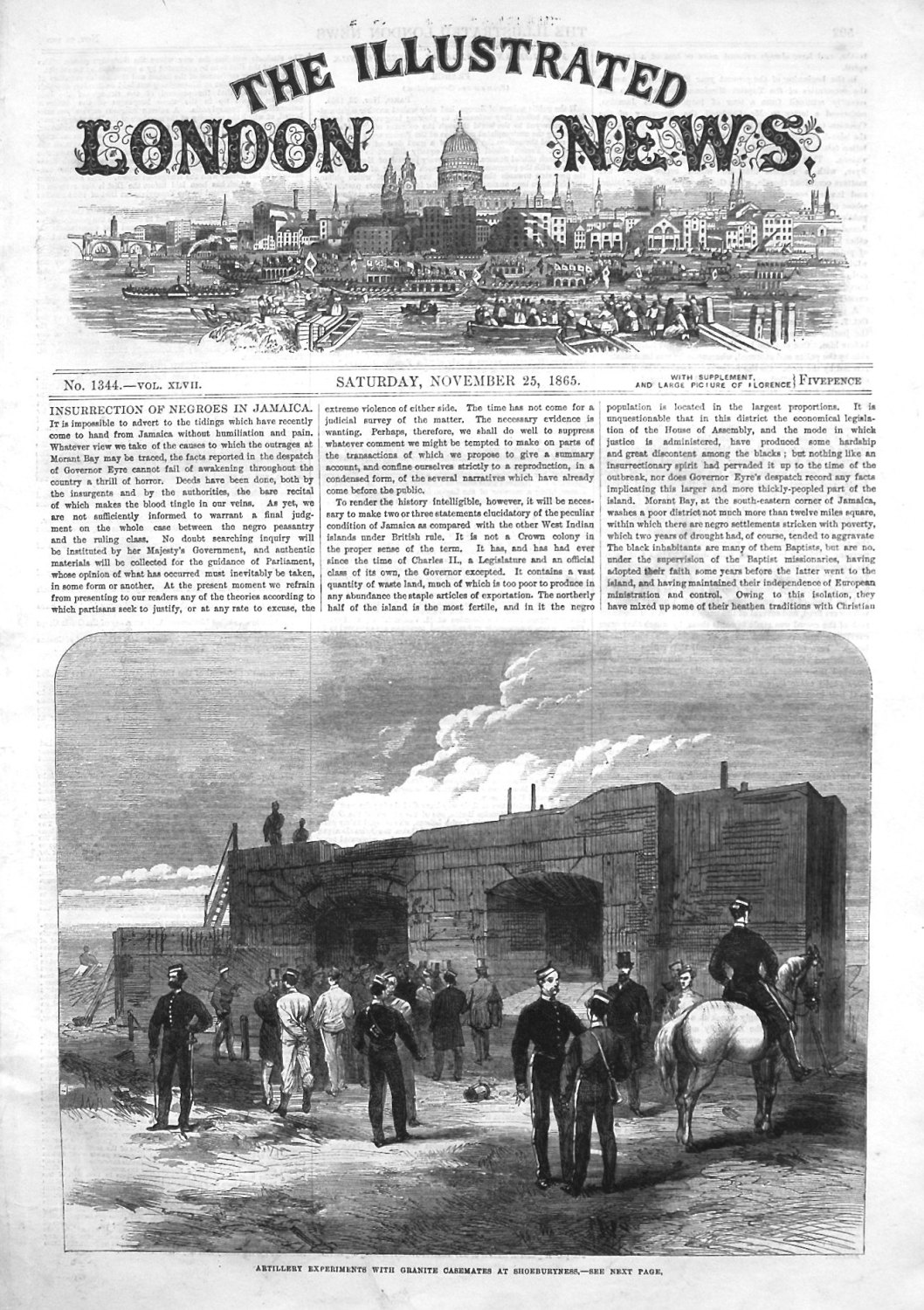 Illustrated London News November 25th 1865.