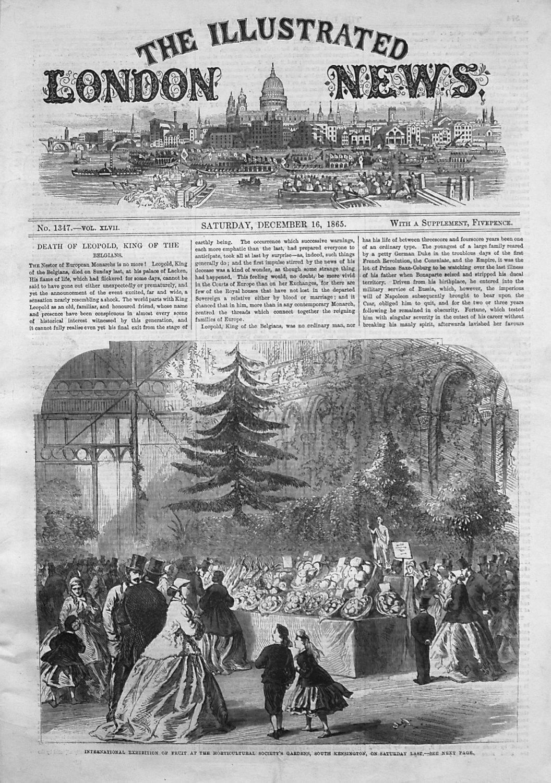 Illustrated London News December 16th 1865.