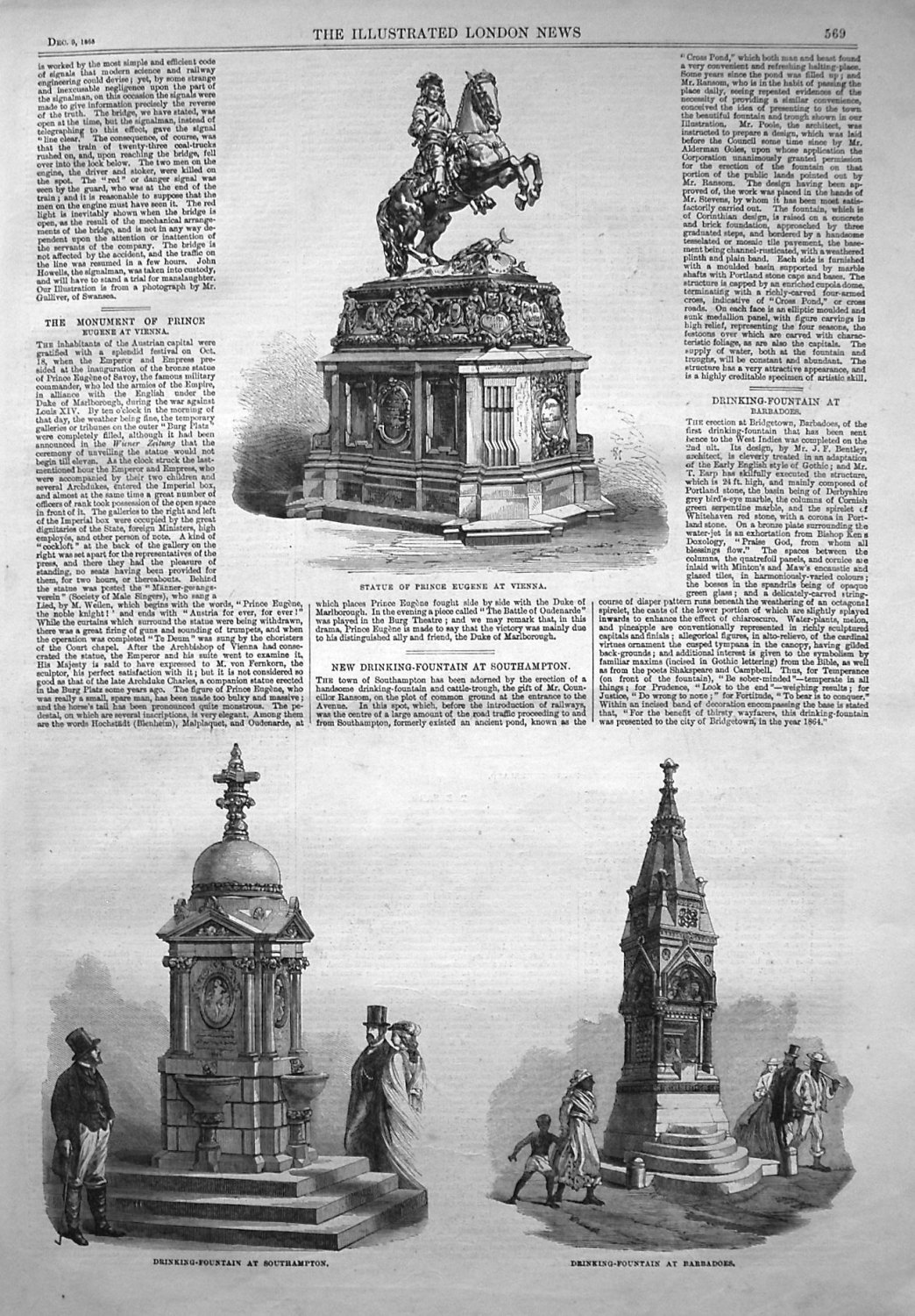 New Drinking-Fountain at Southampton. 1865