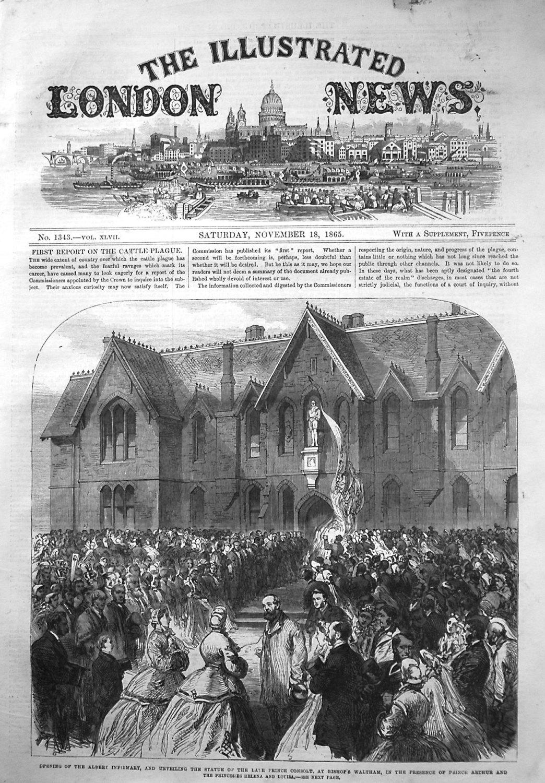 Illustrated London News November 18th 1865.