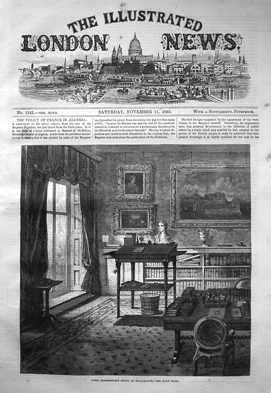 Illustrated London News November 11th 1865.