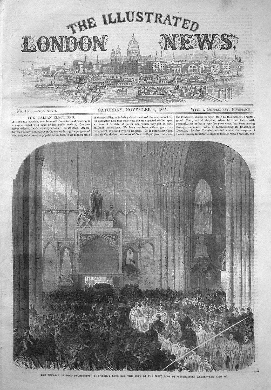 Illustrated London News November 4th 1865.