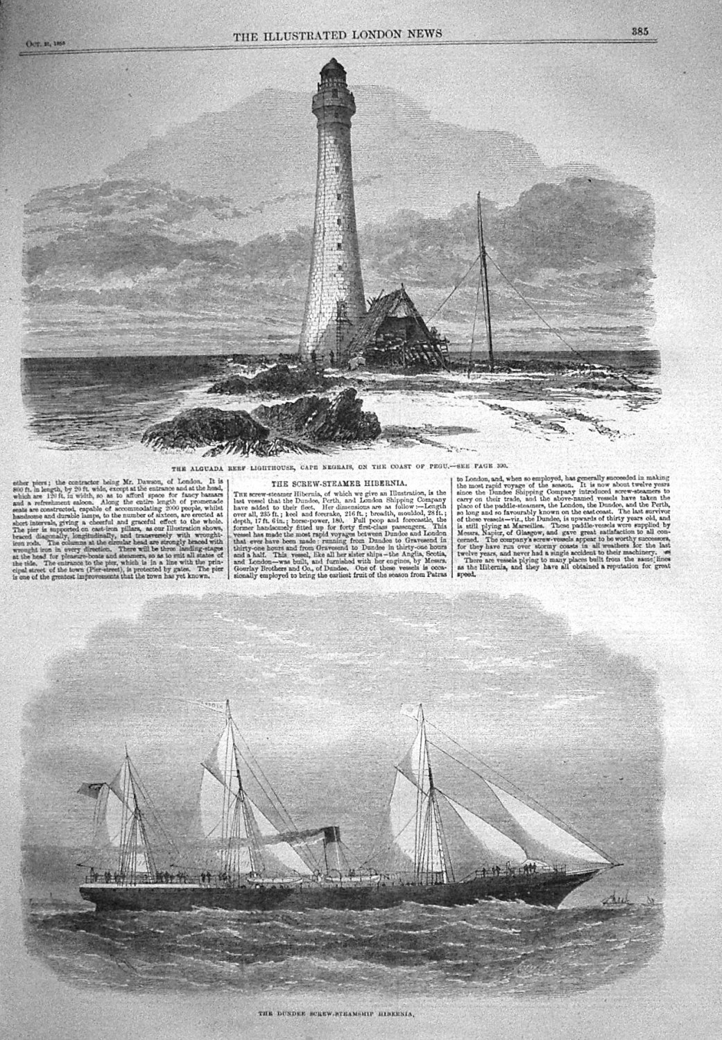 The Screw-Steamer Hibernia. 1865