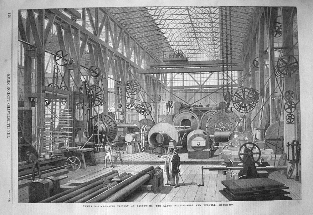 Penn's Marine-Engine Factory at Greenwich : The Large Machine-Shop and Turn