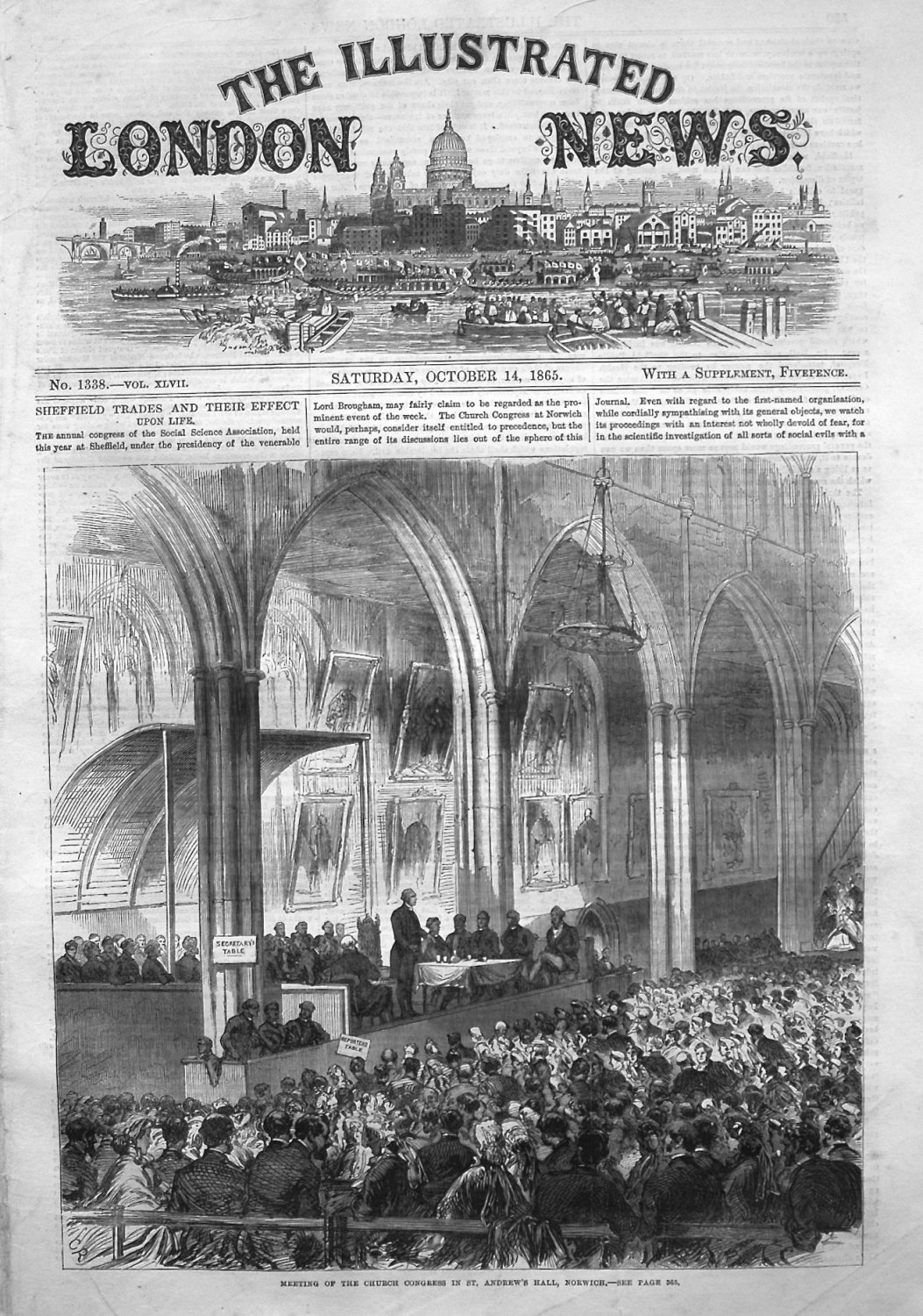 Illustrated London News October 14th 1865.