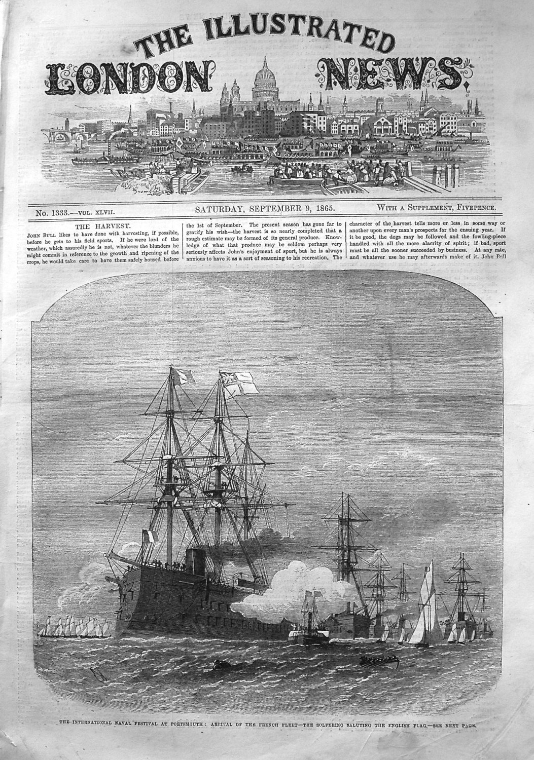 Illustrated London News September 9th 1865.
