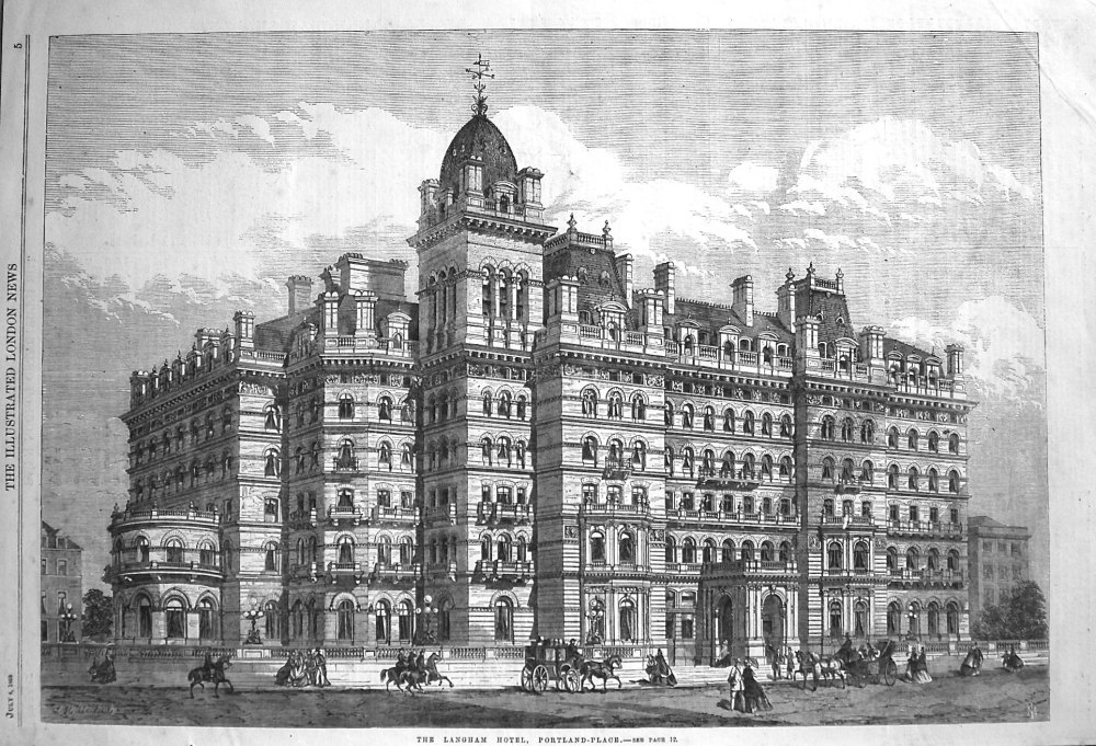 The Langham Hotel, Portland-Place. 1865